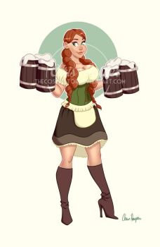 Bar Maiden Pin Up! by TheCosbinator