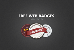 FREE WEB BADGES ELEMENTS by FreePSDDownload