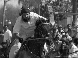 Tent Pegging - 18 by InayatShah