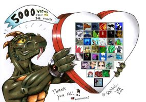 Thank you for 5000 views by ReptileCynrik