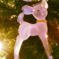 Snowy White Deer Ornament by Patchheart
