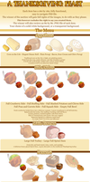Thanksgiving Menu Items by zombie