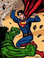 Superman Vs Hulk -Round 2 by maxpa27