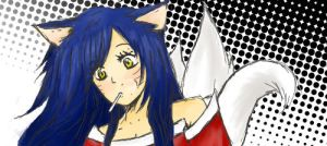 Doodle Ahri with color by Koshka-Stuff