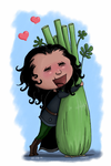 Falling in Love with a Celery by cresqlavicy