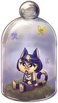 Ankha Butterfly Bottle by Felynea