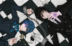 Yes my Lord Ciel Phantomhive and his Butler by KanoeShirota
