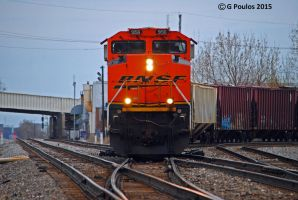 BNSF Grain Train at Archer Ave 0031 4-12-15 by eyepilot13