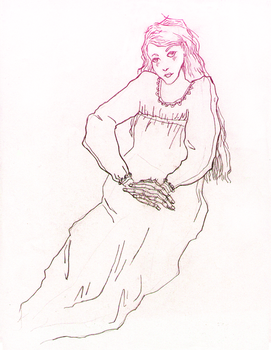 Rose-haired Woman by Kirthey