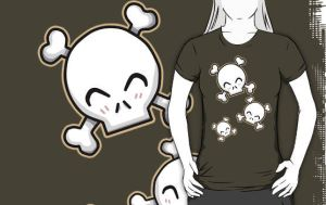 Cute skulls design by Nay-Hime