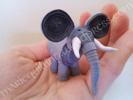 Elephant quilling by Suza59