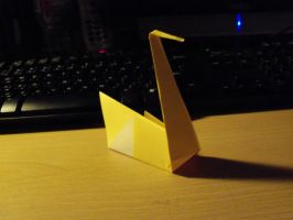 Origami Swan by Crosseyed-Cupcake