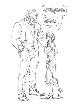 Sketch - Ana and Reinhardt by Nesskain