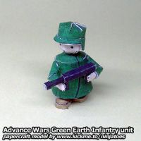 Papercraft Advance Wars Green Earth Infantry unit by ninjatoespapercraft