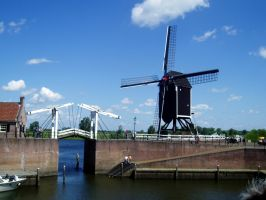 Bridge and Windmill by homik126