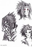 :.Sasuke Heads.: by EspadaFreak