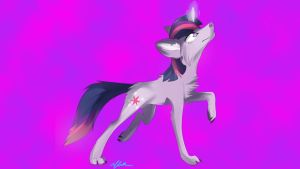 wolf twilight by MonsterPon3