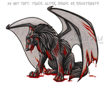 Winged Wounded Wolf Commission by WildSpiritWolf