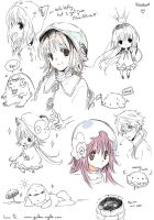 Kobato doodles. by inma