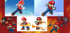 Mario,Zeon,and Krait Conversion: SSB4 Mario poses by DudeAnime21
