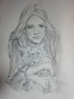 Lady with Cat by missam