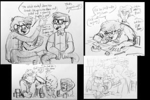 Scenes from the life of the Illustrious Author by thewittyarsonist