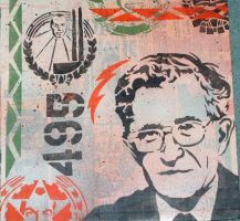 Noam Chomsky by EdwardAbbieyHoffman