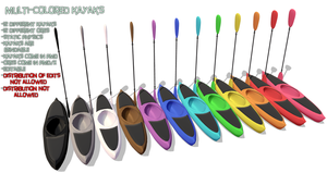 MMD Kayaks and Ores by MagicalPouchOfMagic