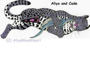 Aliya and Cade!! by AliyaBloodHeart
