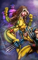 Wolverine and Rouge by bulalakaw76