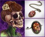 Edwardian Skull Jewelry by helloheath