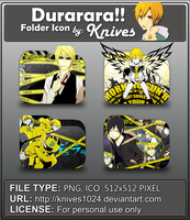 Durarara Anime Folder Icon by Knives by knives1024