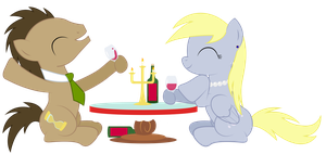 Derpy and Doctor Whooves Date by REPLAYMASTEROFTIME