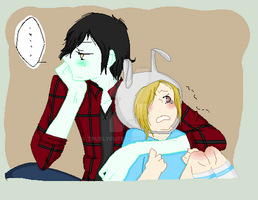 marshall Lee and Fionna by truelycute