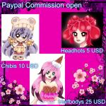 Paypal Commissions are open Points accept too by SweetAdoptParadies