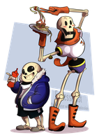 The skeledorks [fanart] by FroggyLovesCoffee