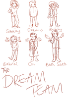Introducing: the Dream Team! (WIP) by AwkwardToast