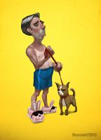 Lazy Alfredo Portrait by deccaart