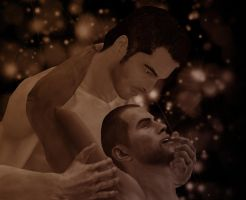 Shepard and Kaidan by SunnyK30