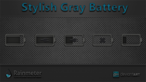 Stylish Gray Battery by WwGallery