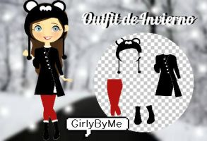 Outfit Invierno para doll png by GirlyByMe