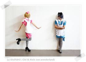 Ciel and Alois in Wonderland by lookfook
