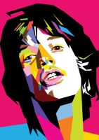 Mick Jagger in WPAP by wedhahai