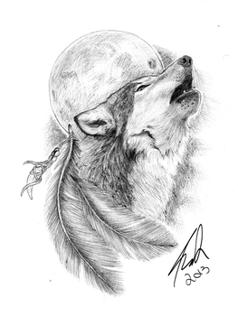 Wolf Tattoo by AMCDesign