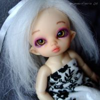 Tsuki's new face up by grimm-faerie