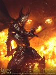 Fire Knight - Legend of the Cryptids by jameszapata