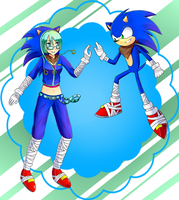 [Trade] Miku and Sonic Boom by xGrand-Finale