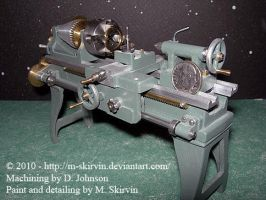 Tiny Working Lathe by M-Skirvin