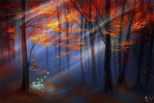 Speed Painting - Forest by 8-bitpunch