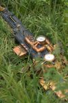 Steampunk Sniper Rifle and goggles - Grass setting by vanbangerburger